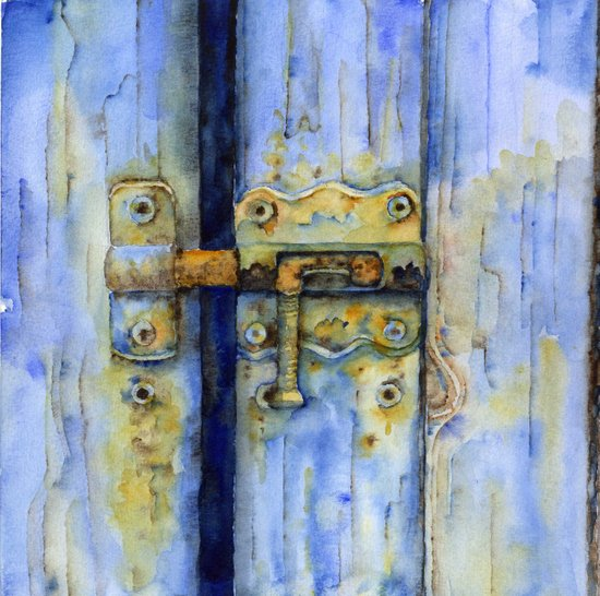 Rusty Lock Art Print