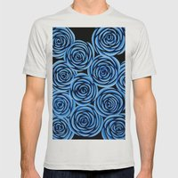 Flowers at Midnight Mens Fitted Tee Silver SMALL
