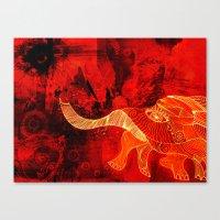 When Elephants Cry. Canvas Print