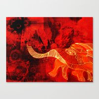 When Elephants cry. Canvas Print