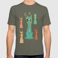 Cool Cats Mens Fitted Tee Lieutenant SMALL