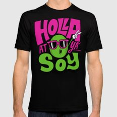 Holla At Ya' Soy SMALL Black Mens Fitted Tee