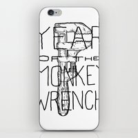Year of the Monkey Wrench iPhone & iPod Skin