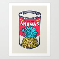 Condensed Ananas Art Print