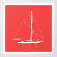 Nautical Boat Art Print