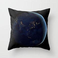 Asia at Night Throw Pillow