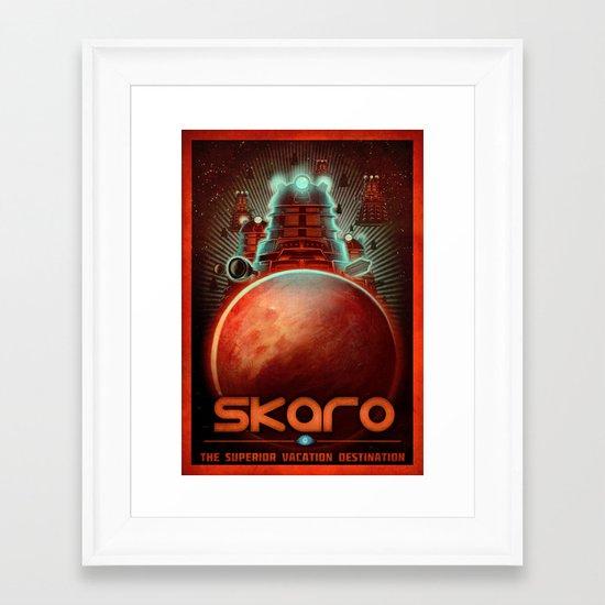 Visit Skaro! Framed Art Print