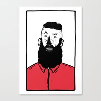 BearD Guy Canvas Print