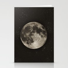 The Moon  [Sans Type] Stationery Cards