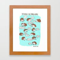Hedgehogs Say Funny Things Framed Art Print