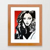 Portrait w/red  Framed Art Print