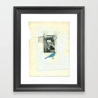 bluebird of... Framed Art Print
