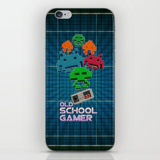 Old School Gamer iPhone & iPod Skin