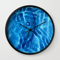 Water / H2O#14 (Water Abstract) Wall Clock