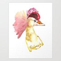 stylin crane Art Print