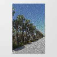 Infinite Palm Trees Canvas Print