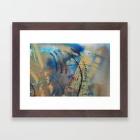 Retrollage 10.. Framed Art Print