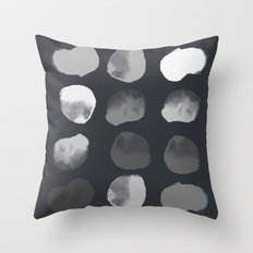 Slate Dots Throw Pillow