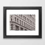 Framed Art Print featuring New York Flat Iron by The Accelerator