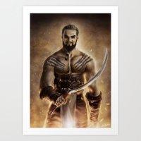 Khal Drogo Art Print