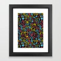 Galore (black Version) Framed Art Print