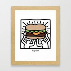 Pop Art Burger #1 Framed Art Print