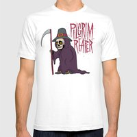 PilGrim Reaper Mens Fitted Tee White SMALL