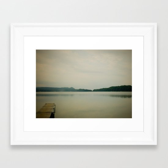 Herring Lake Dock Framed Art Print