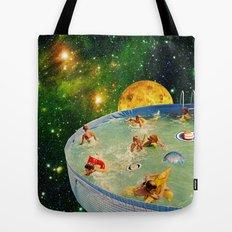Screaming Children in Pool Tote Bag