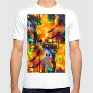 Down By The Waterside Mens Fitted Tee White SMALL