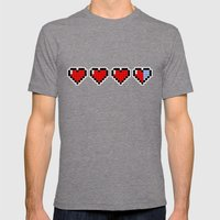 Pixel Hearts Mens Fitted Tee Tri-Grey SMALL