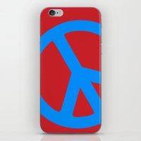Blue Peace  iPhone & iPod Skin