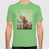 Last Year's Antlers Mens Fitted Tee Grass SMALL