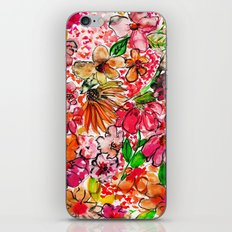 Wildflower Red iPhone & iPod Skin
