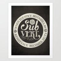 Subvert Art Print