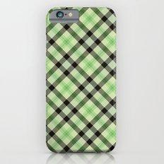 Lime Plaid Slim Case iPhone 6s