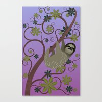 Sloth In A Tree Canvas Print