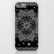 Elegant Black and White Mandala Case iPhone 6 Slim Case