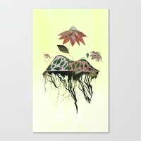 Uprooted Flowers Canvas Print