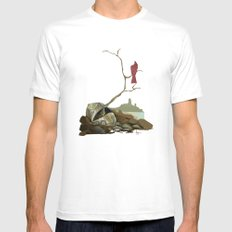 CARDINAL LOOMS Mens Fitted Tee SMALL White