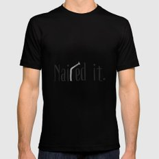 Nailed it SMALL Black Mens Fitted Tee