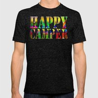 Camp Fire Mens Fitted Tee Tri-Black SMALL