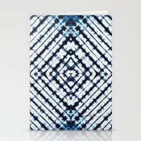 Diamonds Indigo Stationery Cards