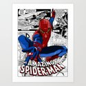 Spider-Man Comic Art Print