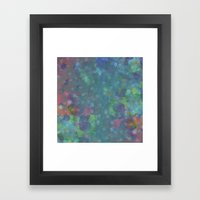 Blue and green abstract painting Framed Art Print