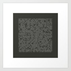 #58 Crossword  – Geometry Daily Art Print