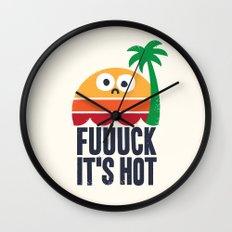 Heated Rhetoric Wall Clock