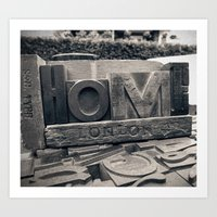 Letters Home Art Print