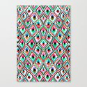 Watercolour Ikat Canvas Print