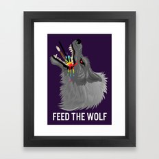 FEED THE WOLF Framed Art Print